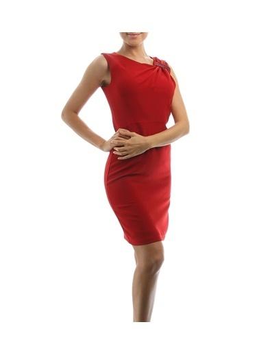 Cotton Bar Elbise Kırmızı